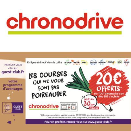 Chronodrive - 20€ offerts* sur tout Chronodrive dès 80€ d'achats.
