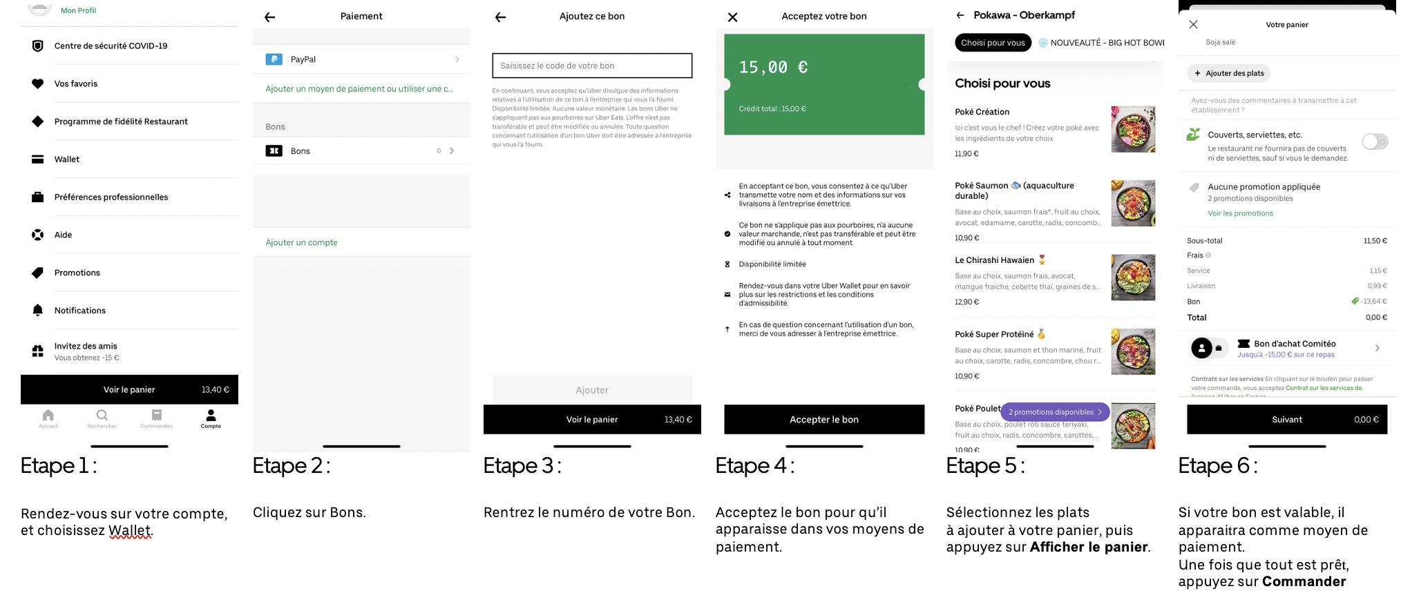 E-bon d'achat de 30€ - Uber Eats