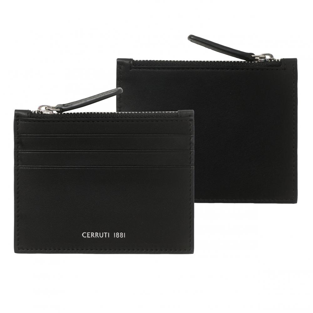 CERRUTI 1881 - Porte-cartes zip Zoom Black