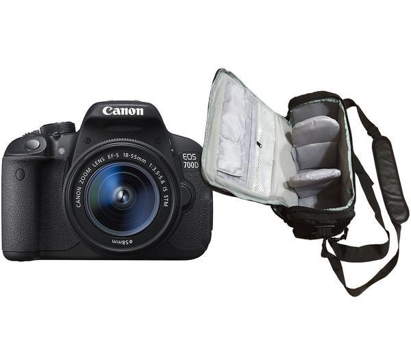 EOS 700D + EF-S 18-55mm f/3.5-5.6 IS STM + professionele camera tas