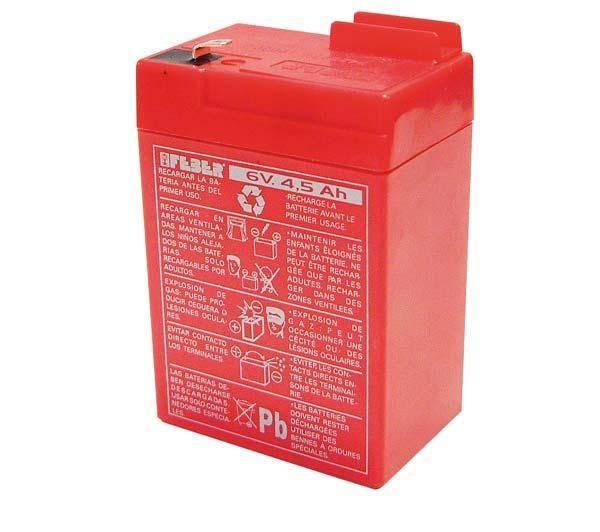 Batterij 6V 4.5Ah kindervoertuigen