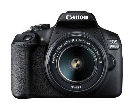EOS 2000D BK 18-55 IS II EU26 Kit d'appareil-photo SLR 24,1 MP CMOS 6000 x 4000 pixels Noir
