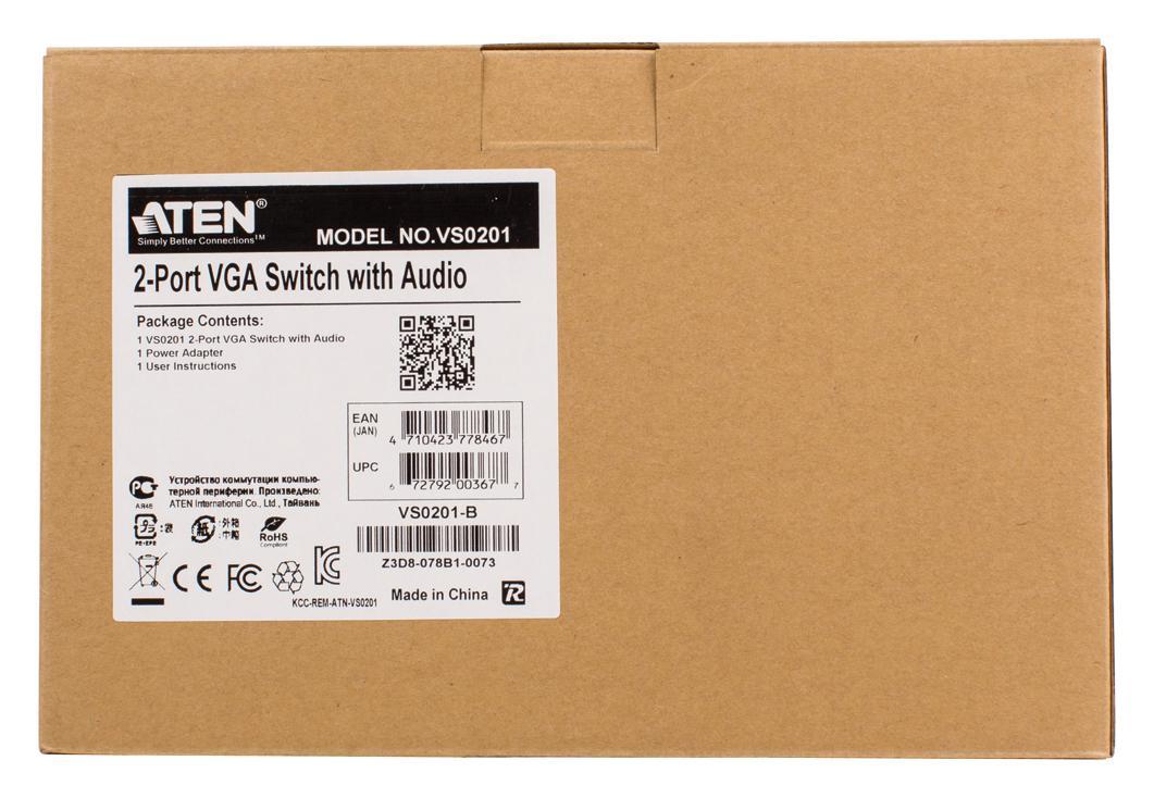 2-port VGA Audio/Video switch