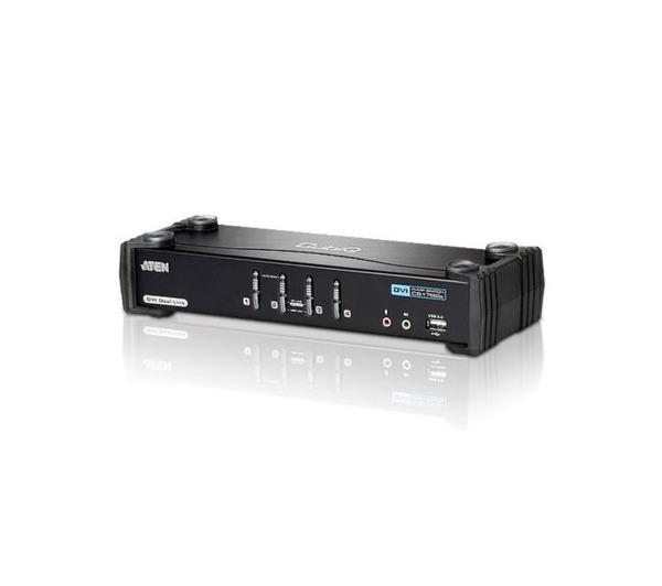 COMMUTATEUR/HUB 4 PORTS USB 2.0 DVI KVMP ATEN