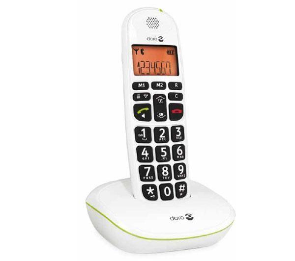 PhoneEasy 100w - Snoerloze telefoon met nummerherkenning - DECT\GAP - wit