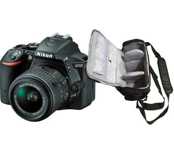 D5500 + AF-S DX 18-55mm VR II + professionele camera tas