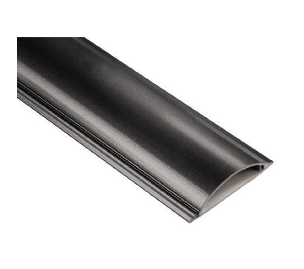 Cable Duct, semicircular, 100/2.1 cm, black