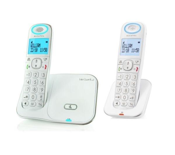 Téléphone fixe ALCATEL VERSATIS XL350 BLANC DUO AVEC REPONDEUR