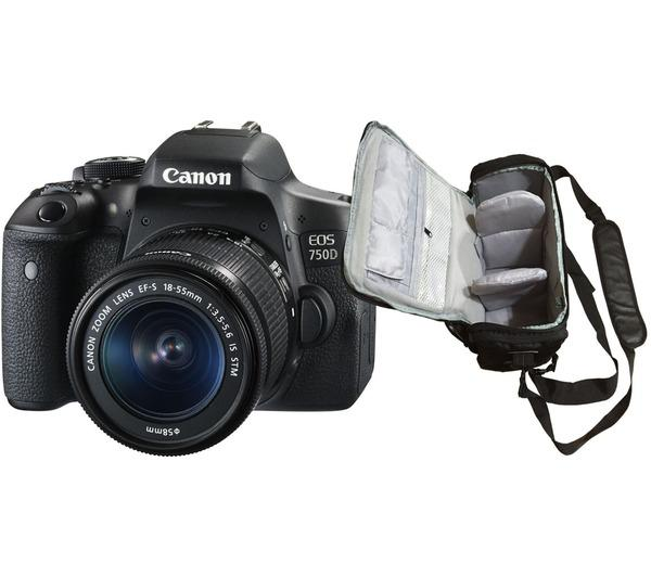 EOS 750D + EF-S 18-55mm f/3.5-5.6 IS STM + professionele camera tas
