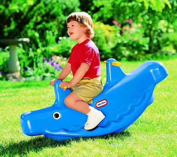 Baleine double bascule bleue