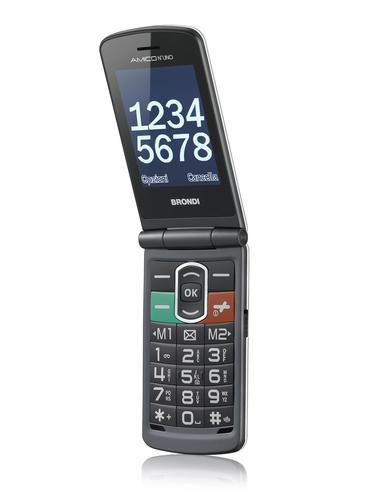 Amico N°Uno 108 g Titane Téléphone pour seniors