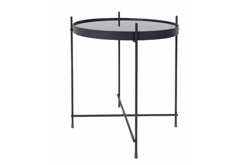 zuiver table basse cupid acier noir 43 x 45 cm - Inside75 Table Basse
