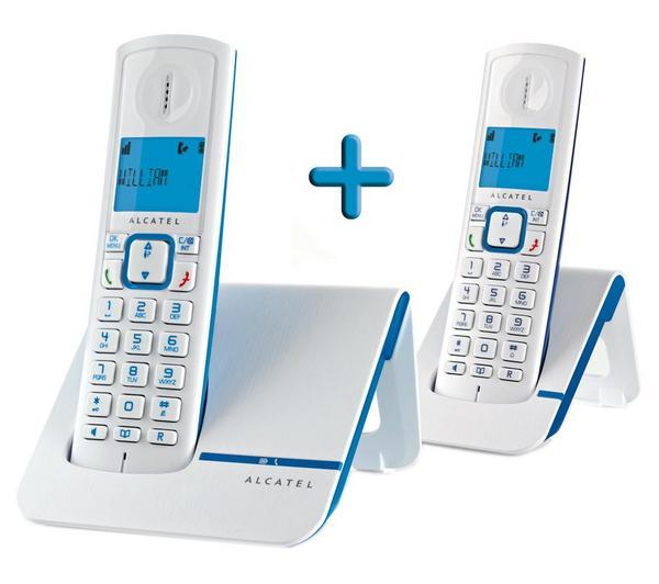 Téléphone fixe ALCATEL VERSATIS F230 BLEU DUO SANS REPONDEUR