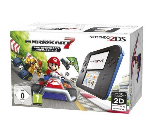 2DS Noir + Bleu + Mario Kart 7 Préinstallé