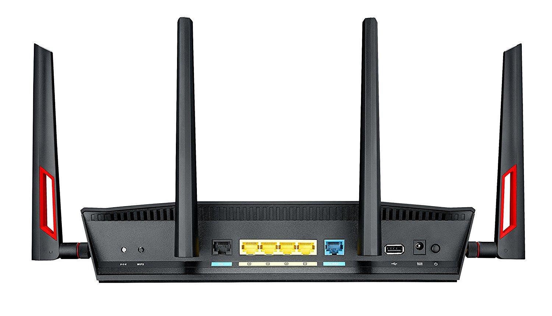 DSL-AC88U routeur sans fil Bi-bande (2,4 GHz / 5 GHz) Gigabit Ethernet Noir, Rouge