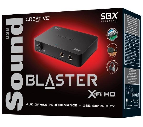 Carte son externe 2.1 Sound Blaster X-Fi HD pour audiophile (USB)