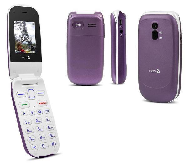 PhoneEasy 607 - auberginepaars - Mobiele telefoon