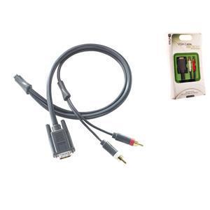 XBOX-12 câble vidéo et adaptateur 2,5 m VGA (D-Sub) RCA Noir