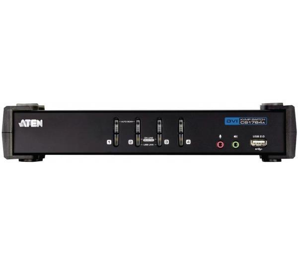 Switch KVM 4 ports DVI-I USB 2.0