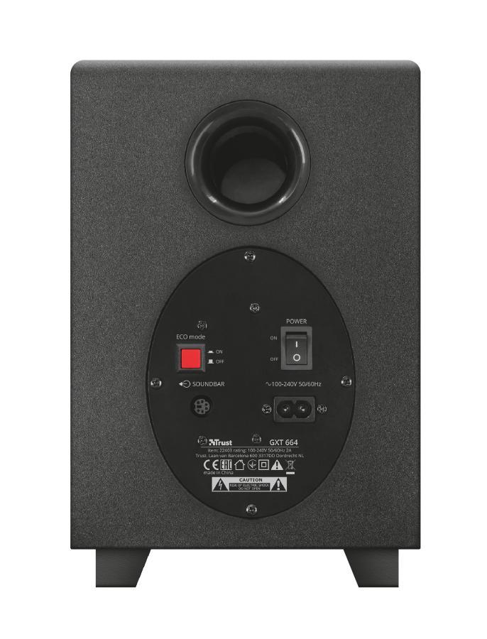 GXT 664 Unca 2.1 haut-parleur soundbar 2.1 canaux 16 W Noir Avec fil