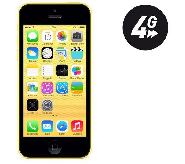 iPhone 5C - 8 GB - Jaune - Reconditionné