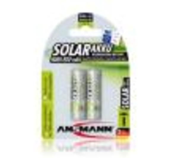 Pack de 2 pile rechargeable SOLAIRE AA Mignon 800mAh