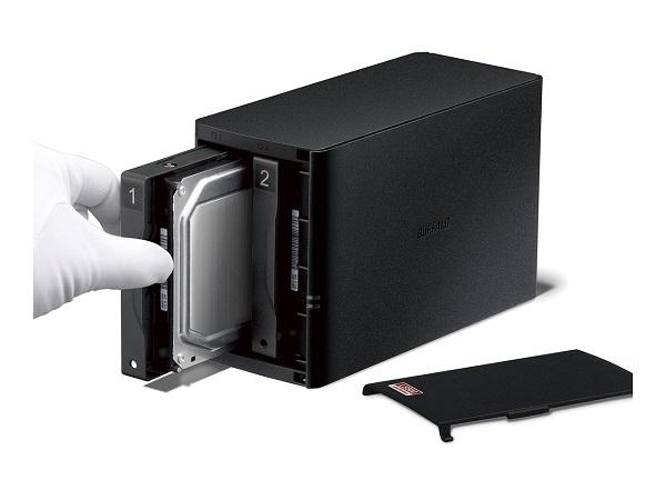 LinkStation 520D - Serveur NAS - 4 To - SATA 3Gb/s - HDD 2 To x 2 - RAID 0, 1, JBOD - Gigabit Ethernet