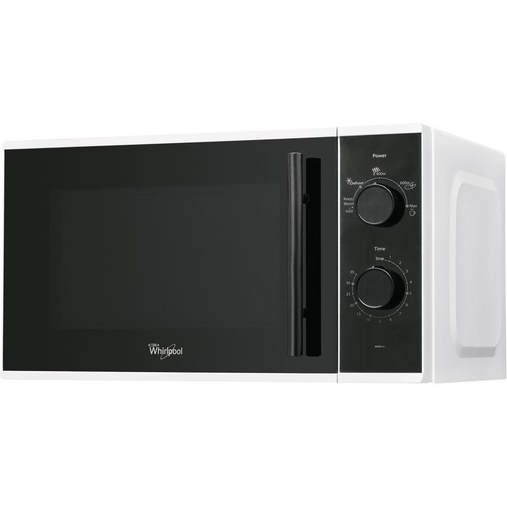 WHIRLPOOL MWD 19 WH Comptoir Micro-ondes uniquement 20 L 700 W Noir, Blanc