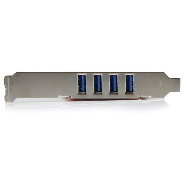 Carte contrôleur PCI à 4 ports USB 3.0 SuperSpeed - Adaptateur PCI avec alimentation SATA / SP4