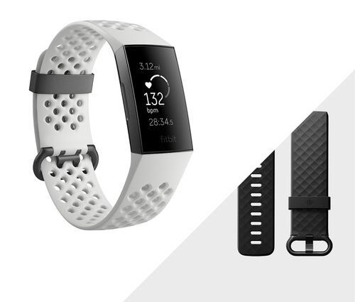 Charge 3 Special Edition Wristband activity tracker Graphite, Blanc Avec fil &sans fil