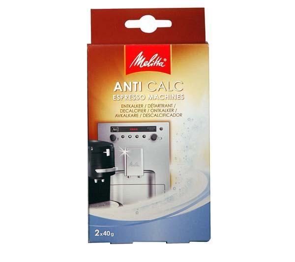 Détartrant cafetière automatique ou à dosettes - poudre 2x40 grammes