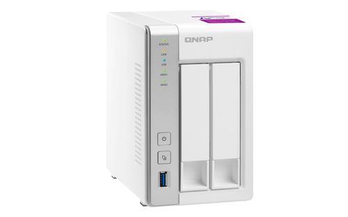 TS-231P2 Ethernet/LAN Tour Blanc NAS