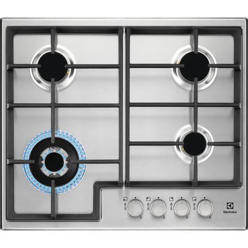 revendeur 1a239 c3919 ELECTROLUX EGS6436X plaque Intégré Cuisinière à gaz Noir