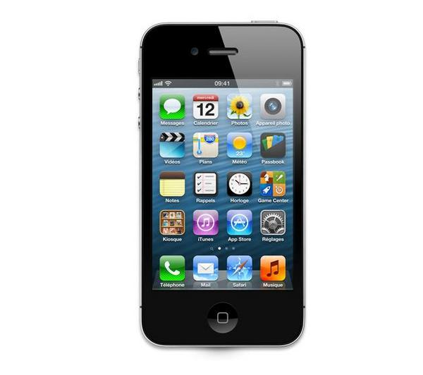 iphones apple iphone 4s 16 go noir reconditionn pixmania. Black Bedroom Furniture Sets. Home Design Ideas