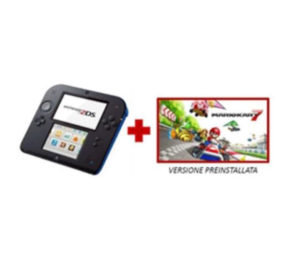 2DS - Console de jeu portable - noir, bleu - Mario Kart 7