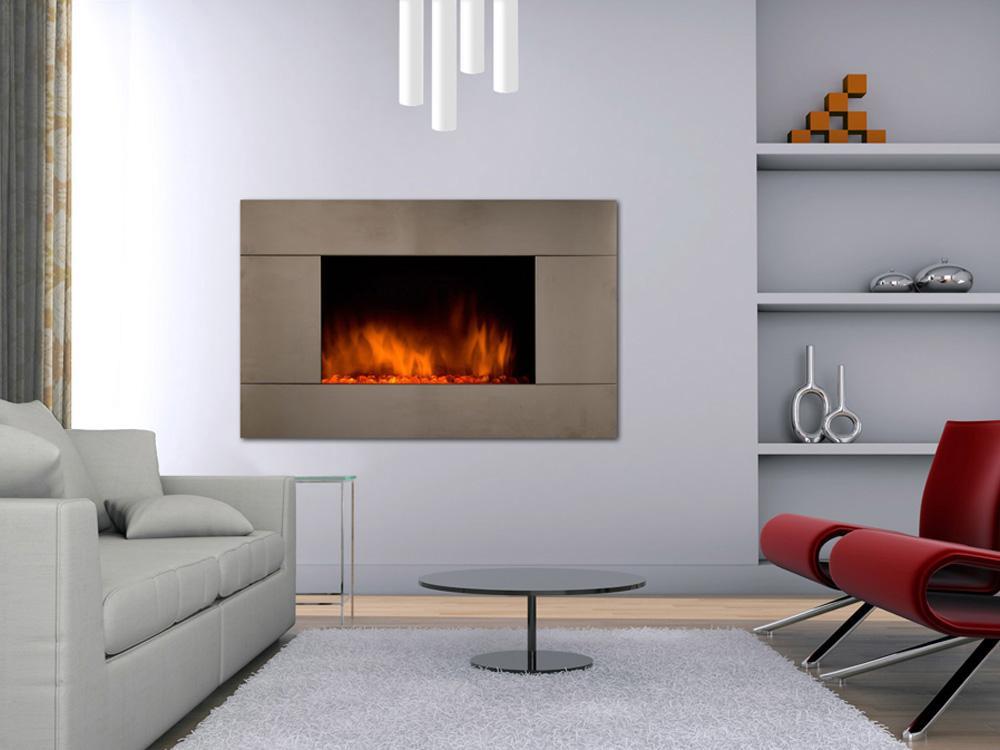 CheminArte 101 Fire Steel Foyer /électrique d/écoratif
