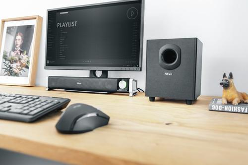 Asto haut-parleur soundbar 2.1 canaux 20 W Noir Avec fil