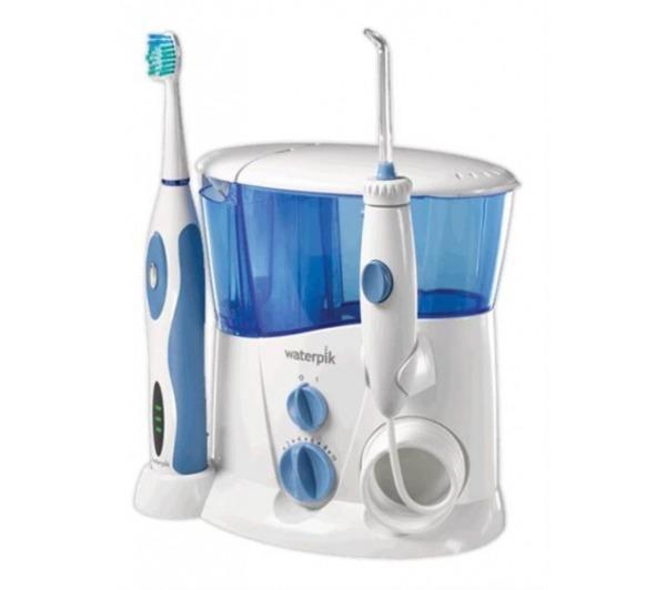 Jet dentaire et Hydropulseur WATERPIK WP900 BLANC BLEU