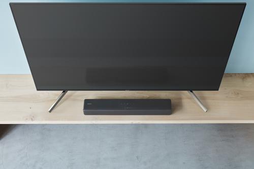 HTS-F200 haut-parleur soundbar 2.1 canaux Noir Sans fil
