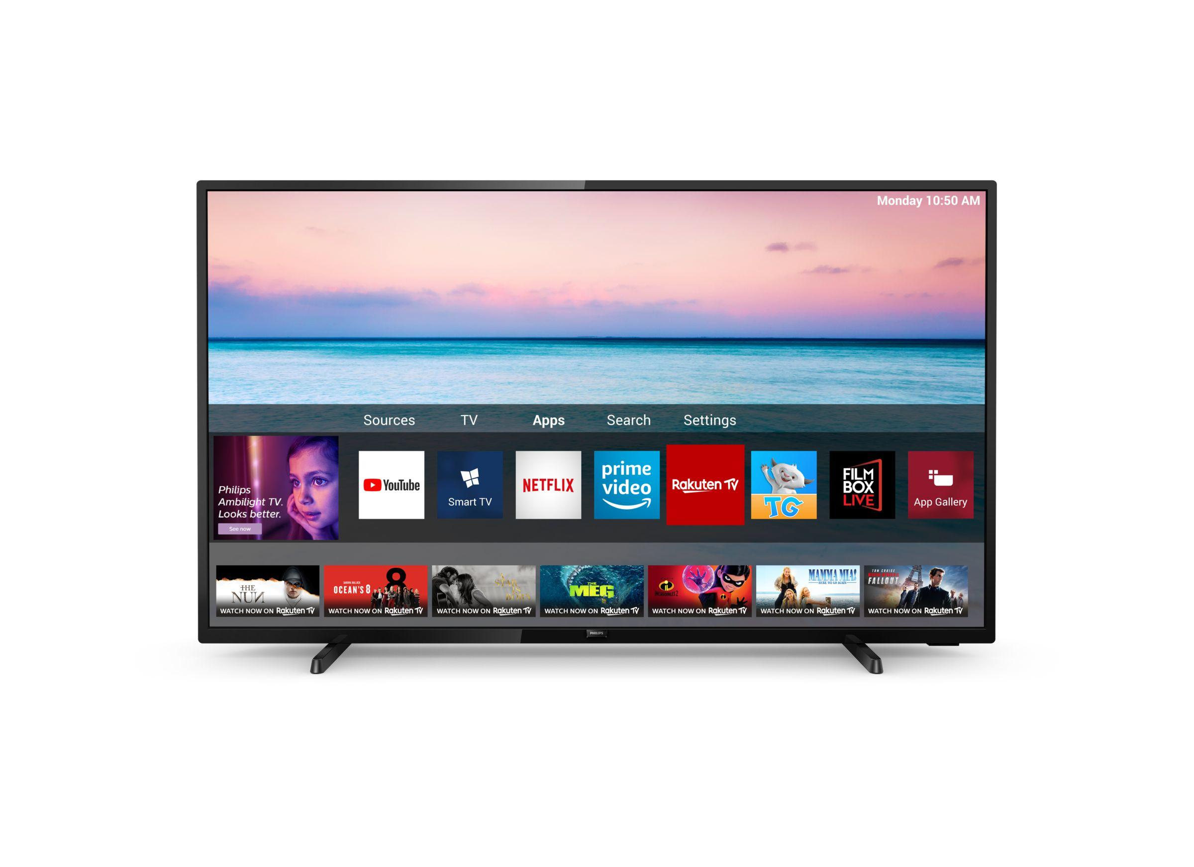 6500 series Téléviseur Smart TV 4K UHD LED 50PUS6504/12