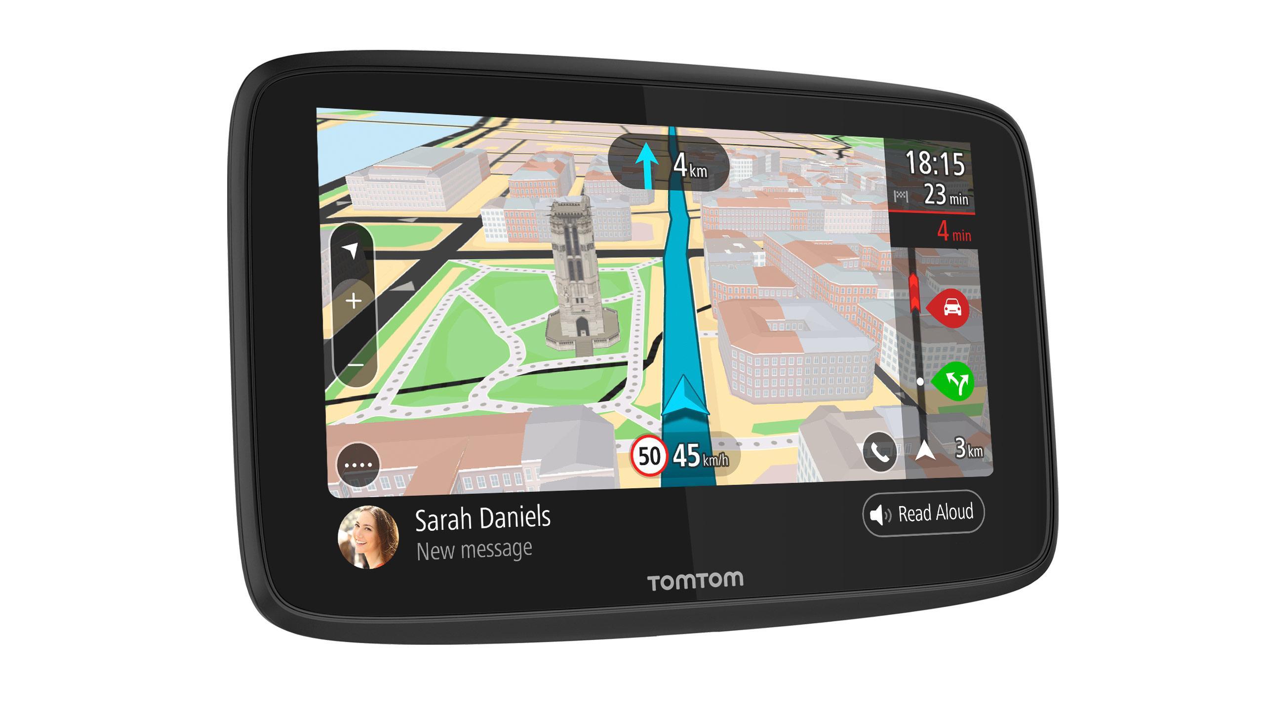 """GO 620 navigateur 15,2 cm (6"""") Écran tactile Fixé Noir, Gris"""