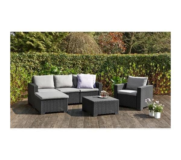 Housses de fauteuil - ALLIBERT - MOOREA Salon de jardin 4 pieces ...