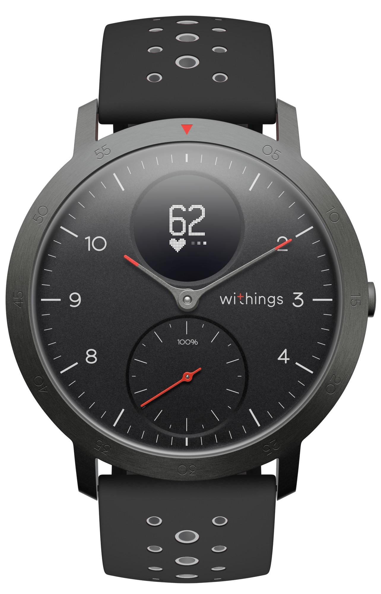 Inteligente Negro Gpssatélite Withings Sport Analógica Steel Hr Reloj lcFTJ3K1