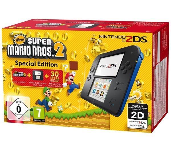 2DS Noire-Bleue + New Super Mario Bros. 2