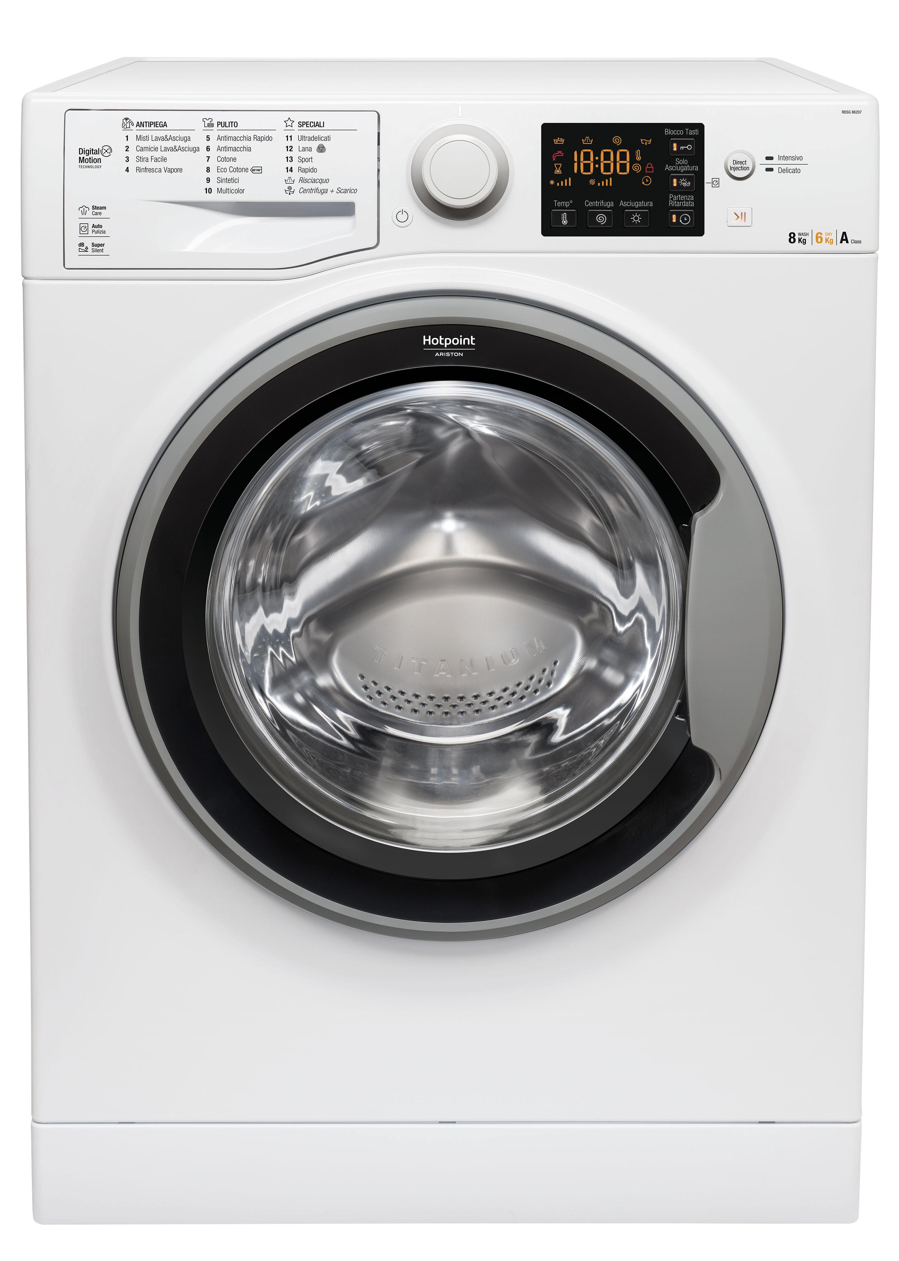 Caisson Pour Seche Linge hotpoint rdsg 86207 s it machine à laver avec sèche linge charge avant  autonome blanc a