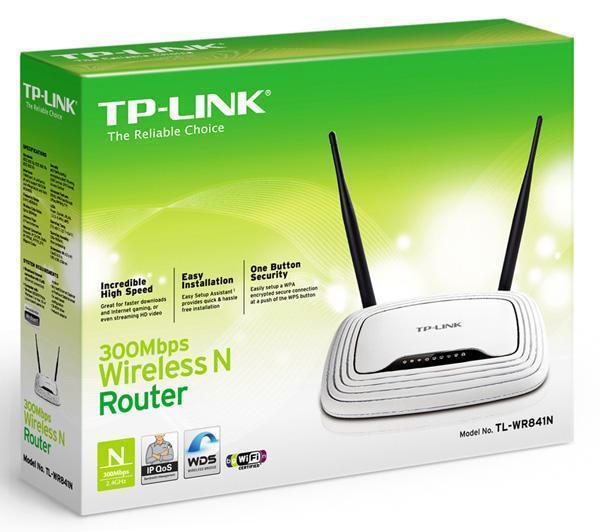 TL-WR841N Fast Ethernet Noir, Blanc routeur sans fil