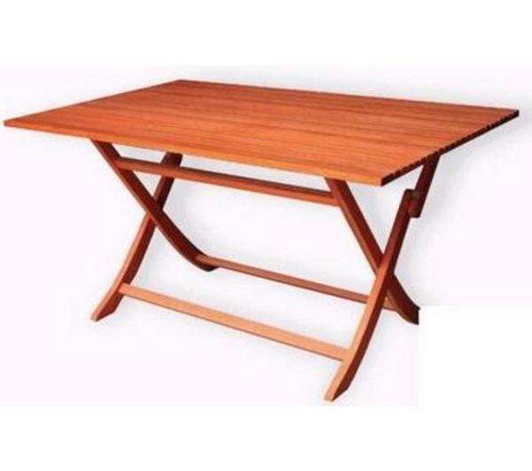 Mesas terraza madera almohadones grandes mesa de madera - Mesa plegable madera ...