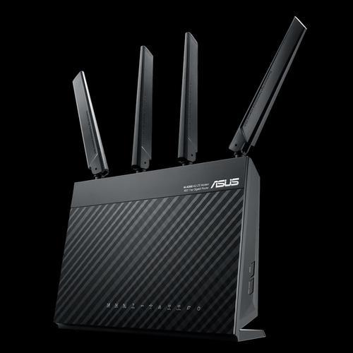 4G-AC68U routeur sans fil Bi-bande (2,4 GHz / 5 GHz) Gigabit Ethernet 3G Noir