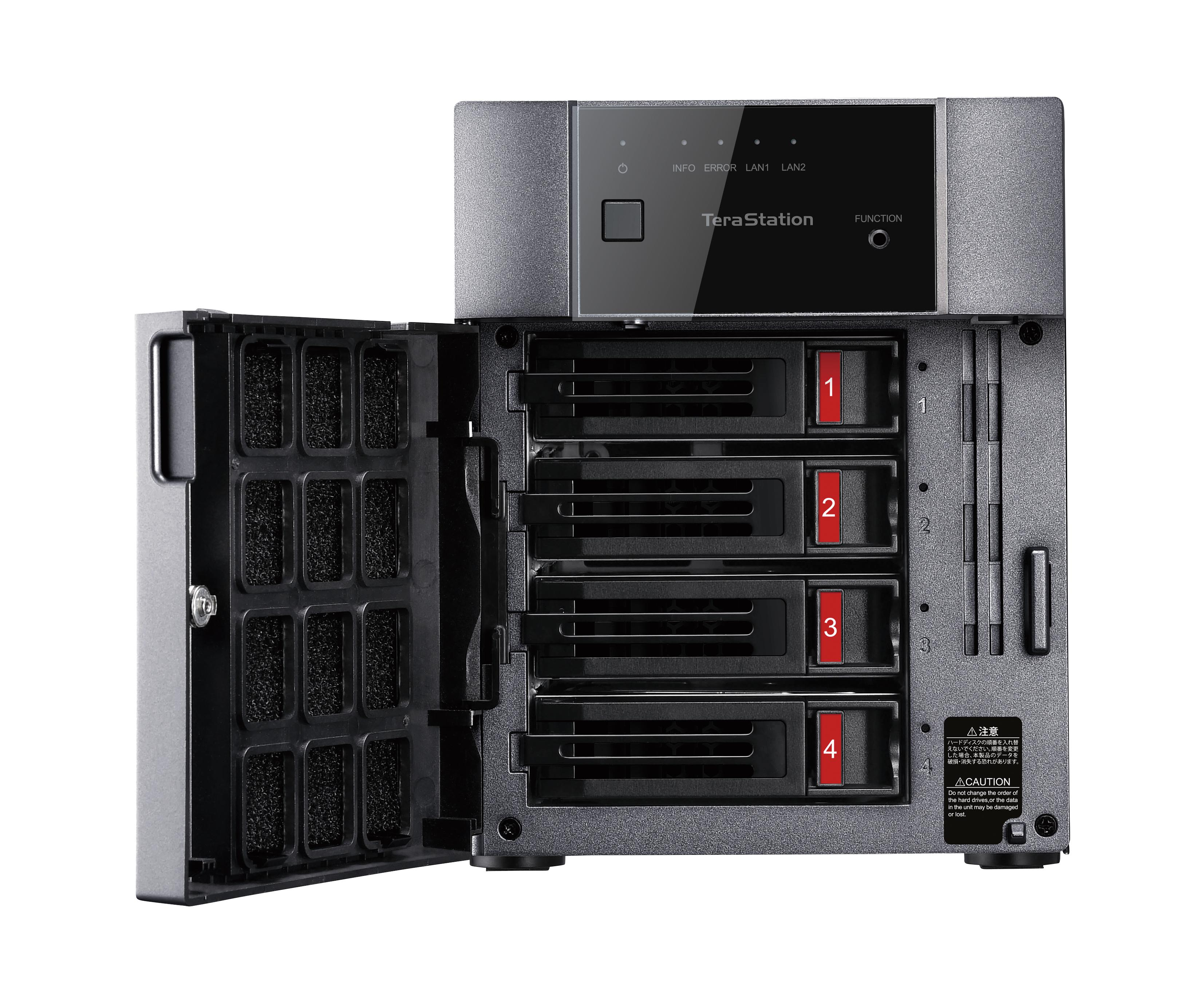 TeraStation TS3410DN Ethernet/LAN Bureau Noir NAS