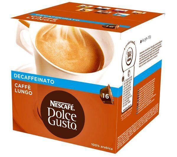 16 capsules Dolce Gusto Caffè Lungo Decaffeinato